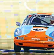 Porsche 911 S  Classic Le Mans 24  Poster by Yuriy  Shevchuk