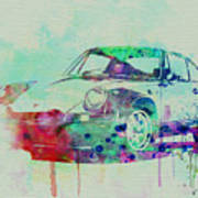 Porsche 911 Watercolor 2 Poster by Naxart Studio