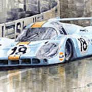 Porsche 917 Lh 24 Le Mans 1971 Rodriguez Oliver Poster by Yuriy  Shevchuk