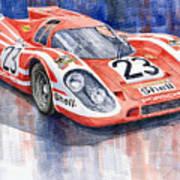 Porsche 917k Winning Le Mans 1970 Poster