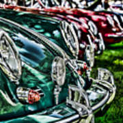 Porsche Row Poster by Barry C Donovan