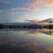 Port Of Anacortes Marina At Sunset Poster