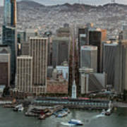 Port Of San Francisco And Downtown Financial District Poster