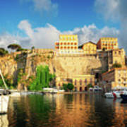 Port Of Sorrento, Southern Italy Poster