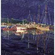 Marina Evening Reflections Poster