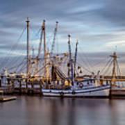 Port Royal Shrimp Boats Poster