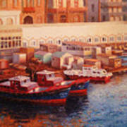 Port Said At Dawn Poster