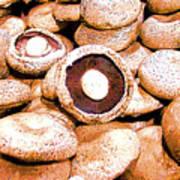 Portabello Mushrooms Poster