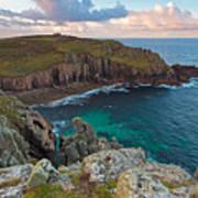 Porth Loe Cornwall At Sunrise Poster