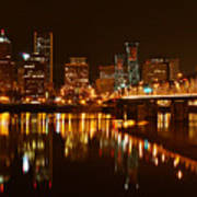 Portland At Night Poster