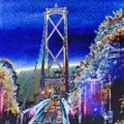 Portland Bridge Poster