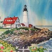 Portland Head Light Poster by Dianna  Willman