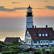 Portland Head Lighthouse At Daybreak 2 Poster