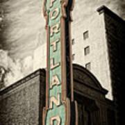 Portland Marquis Poster by Danielle Denham