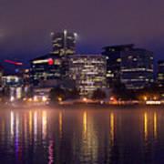 Portland Night Skyline Poster
