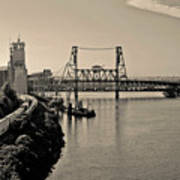 Portland Steel Bridge Poster
