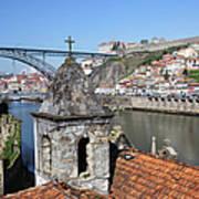 Porto And Gaia Cityscape In Portugal Poster