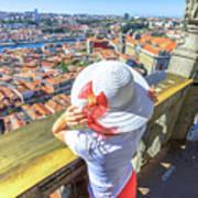 Porto Skyline Woman Poster