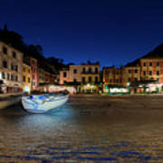 Portofino Bay By Night IIi- Piazzetta Di Portofino By Night Poster