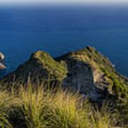 Portofino Green And Blu Liguria Rocks And Sea Poster