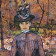 Portrait De Suzanne Valadon Madame Suzanne Valadon, Artiste Peintre 1885 Poster