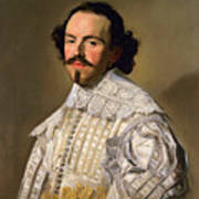 Portrait Of A Gentleman In White Poster