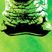 Rhino Animal Decorative Green Poster 8 - By  Diana Van Poster