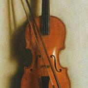 Portrait Of A Violin Poster