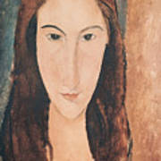 Portrait Of A Young Girl Poster by Amedeo Modigliani