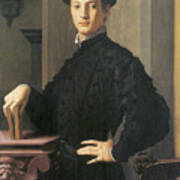 Portrait Of A Young Man Poster by Agnolo Bronzino