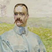 Portrait Of Brigadier Jozef Pilsudski Poster