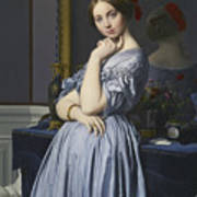 Portrait Of Comtesse D'haussonville Poster