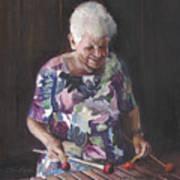 Portrait Of Edwinna Poster