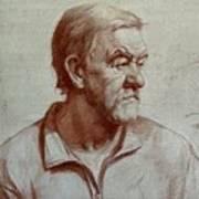 Portrait Of Elderly Man Poster