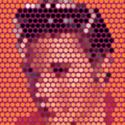 Portrait Of Elvis Presley  Poster