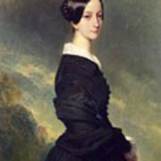 Portrait Of Francisca Caroline De Braganca Poster by Franz Xaver Winterhalter