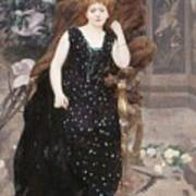 Portrait Of Jane Hading , Alfred Roll Poster