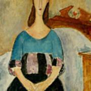 Portrait Of Jeanne Hebuterne Poster by Amedeo Modigliani