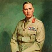 Portrait Of Lieutenant - General The Honorable Sir Edmund Herring Poster
