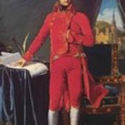 Portrait Of Napolan Bonaparte The First Council 1804 Poster