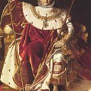 Portrait Of Napolan On The Imperial Throne 1806 Poster