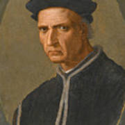 Portrait Of Piero Soderini Half Length Wearing A Black Coat And A Black Hat Poster