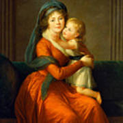 Portrait Of Princess Alexandra Golitsyna And Her Son Piotr Poster