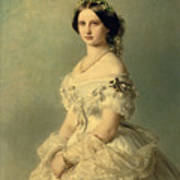 Portrait Of Princess Of Baden Poster by Franz Xaver Winterhalter