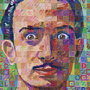 Portrait Of Salvador Dali Poster