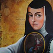 Portrait Of Sor Juana Ines De La Cruz Poster