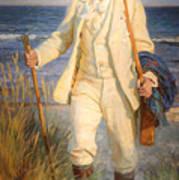 Portrait Of The Danish Painter Peder Severin Kroyer Poster