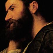 Portrait Of The Poet Pietro Aretino Poster