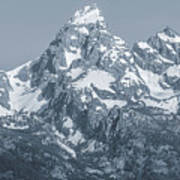 Portrait Of The Tetons Poster
