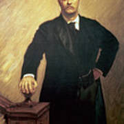 Portrait Of Theodore Roosevelt Poster by John Singer Sargent